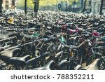 bicycles and city bikes in... | Shutterstock . vector #788352211