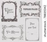 vintage frames and design... | Shutterstock .eps vector #78835342