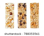protein cereal energy bars with ... | Shutterstock . vector #788353561