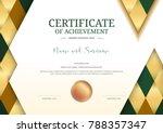 luxury certificate template...   Shutterstock .eps vector #788357347