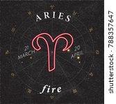 zodiac sign aries inverted logo ... | Shutterstock .eps vector #788357647