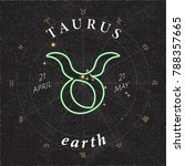 zodiac sign taurus inverted... | Shutterstock .eps vector #788357665