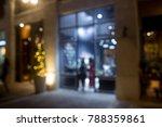 blurred background cafe or shop | Shutterstock . vector #788359861