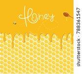 honey splash dripping sweet... | Shutterstock .eps vector #788361547