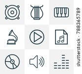 multimedia icons line style set ... | Shutterstock .eps vector #788365789