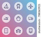 shipment icons line style set... | Shutterstock .eps vector #788365921