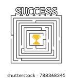 success concept graphic design... | Shutterstock .eps vector #788368345