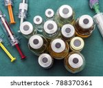 vials of different size next to ... | Shutterstock . vector #788370361