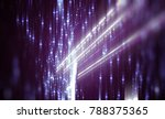 abstract violet bokeh circles.... | Shutterstock . vector #788375365