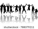 men and women silhouettes... | Shutterstock . vector #788379211