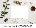 magic christmas. blank card...   Shutterstock . vector #788380699