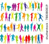 colorful silhouettes of women... | Shutterstock . vector #788380819