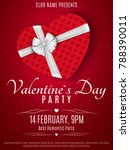 valentines day party flyer. red ... | Shutterstock .eps vector #788390011