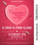 valentines day party flyer....   Shutterstock .eps vector #788390014
