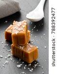 hand made caramel toffee pieces ... | Shutterstock . vector #788392477