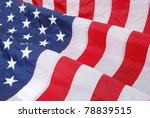 american flag waving in the wind | Shutterstock . vector #78839515