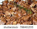 closeup of chunks of delicious... | Shutterstock . vector #788401555