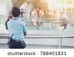 security guard in public place... | Shutterstock . vector #788401831