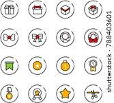 line vector icon set   gift...   Shutterstock .eps vector #788403601