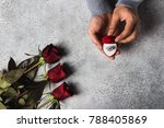 valentines day romantic man... | Shutterstock . vector #788405869