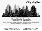 the silhouette of the city in a ... | Shutterstock .eps vector #788407069