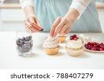 closeup hands of chef... | Shutterstock . vector #788407279