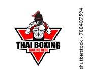 fighter thai boxing logo vector ...   Shutterstock .eps vector #788407594
