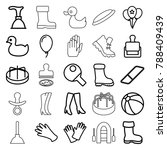 rubber icons. set of 25... | Shutterstock .eps vector #788409439