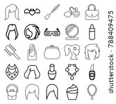 glamour icons set of 25