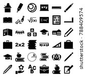 school icons. set of 36... | Shutterstock .eps vector #788409574