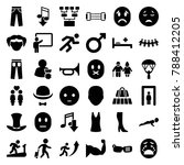 man icons. set of 36 editable... | Shutterstock .eps vector #788412205