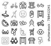 kid icons. set of 25 editable... | Shutterstock .eps vector #788412241