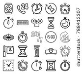 hour icons. set of 25 editable... | Shutterstock .eps vector #788412307