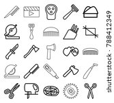 cut icons. set of 25 editable... | Shutterstock .eps vector #788412349
