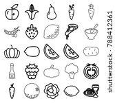 vegetarian icons. set of 25... | Shutterstock .eps vector #788412361
