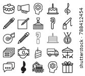 pictograph icons. set of 25... | Shutterstock .eps vector #788412454