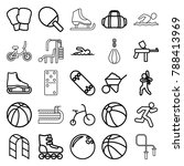 activity icons. set of 25... | Shutterstock .eps vector #788413969