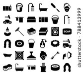 wash icons. set of 36 editable... | Shutterstock .eps vector #788413999