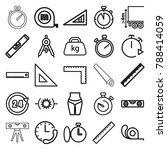 measure icons. set of 25... | Shutterstock .eps vector #788414059