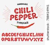 vintage font design ... | Shutterstock .eps vector #788414941