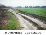 dirt road disappearing into the ... | Shutterstock . vector #788415109