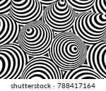 abstract black and white... | Shutterstock .eps vector #788417164