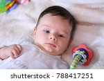 2 months old lovely baby... | Shutterstock . vector #788417251