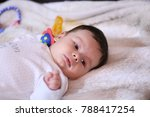 2 months old lovely baby... | Shutterstock . vector #788417254