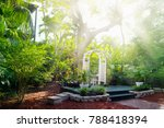 house courtyard and the garden... | Shutterstock . vector #788418394