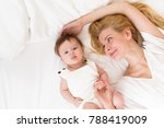 portrait of beautiful young mom ... | Shutterstock . vector #788419009