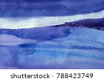 blue abstract watercolor macro... | Shutterstock . vector #788423749