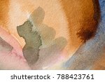 multicolored watercolor painted ... | Shutterstock . vector #788423761