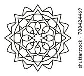 simple mandala shape for... | Shutterstock .eps vector #788424469