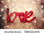 flowers with word love | Shutterstock . vector #788426344